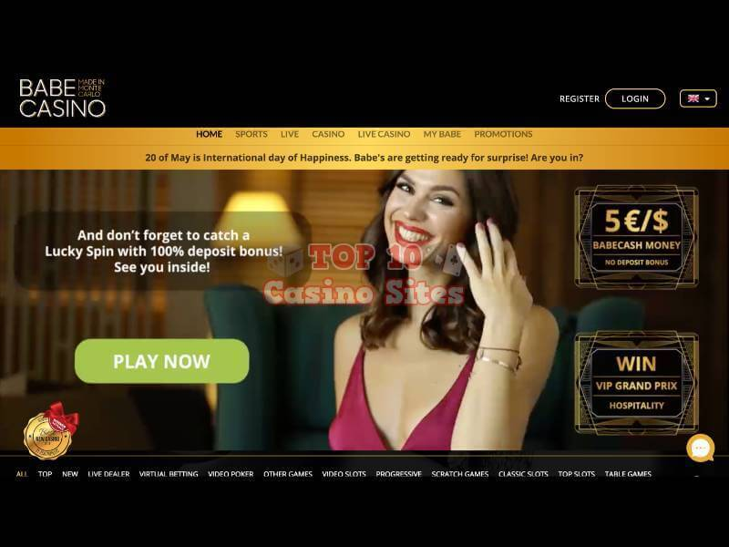 Babe Casino Main Page