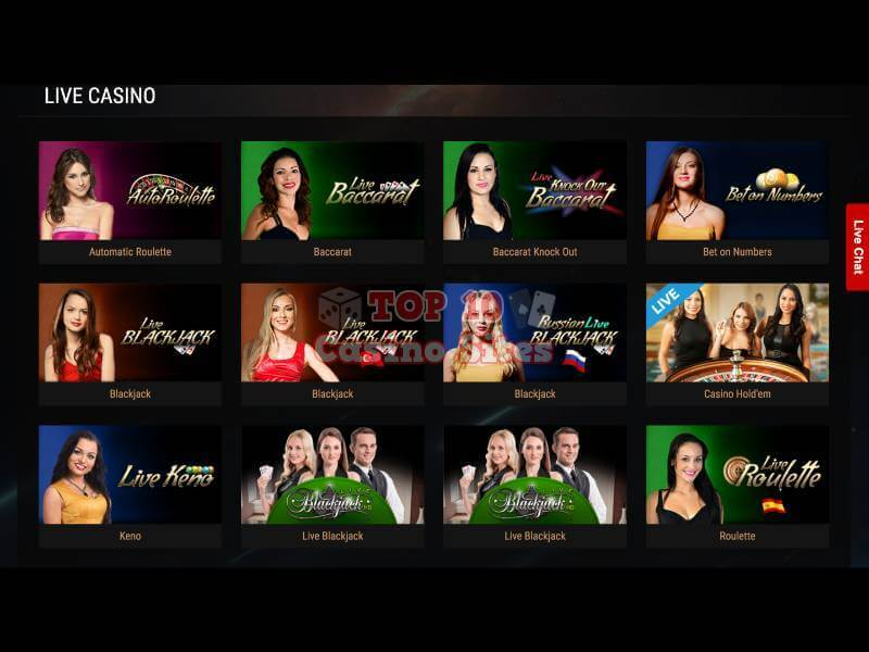 King Billy Casino Live Games