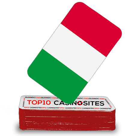 Italy flag playing cards