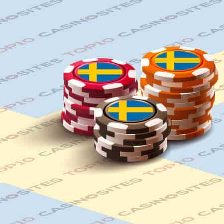 Sweden flag casino chips