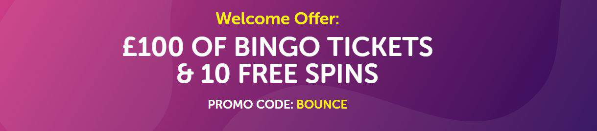 Bounce Bingo Welcome Bonus
