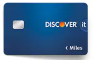 Screenshot of navy blue Discover it Travel credit card
