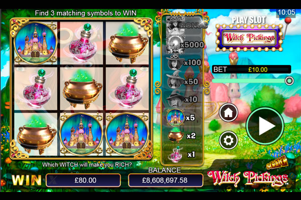 Image of Scratch Witch Pickings in-game action