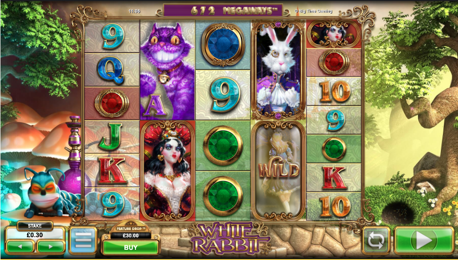 An image of the White Rabbit slot game