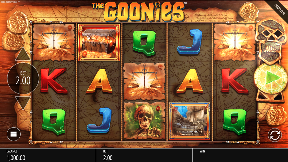 An image of The Goonies Slot game